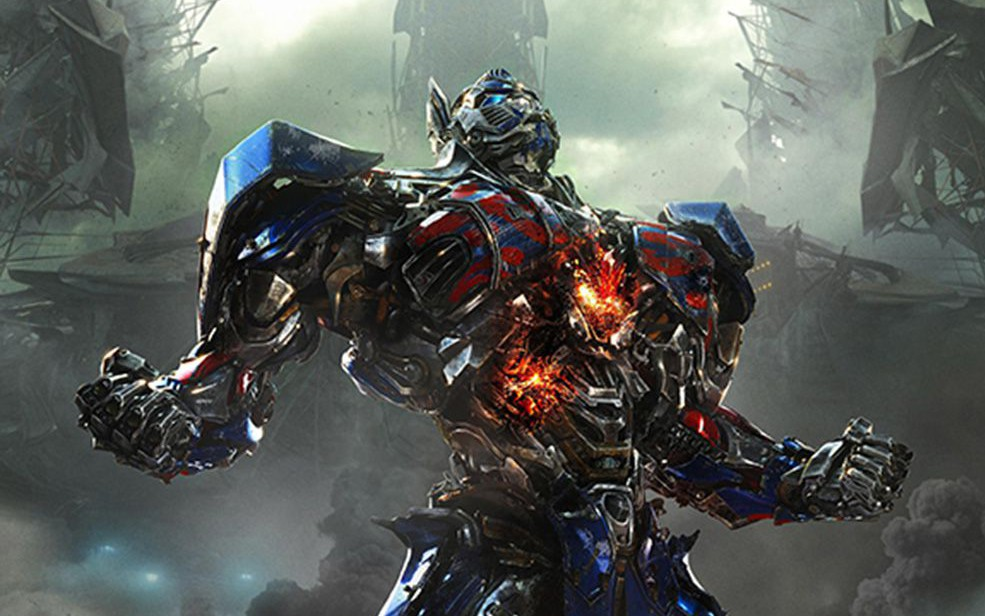 This photo released by Paramount Pictures shows Optimus Prime in