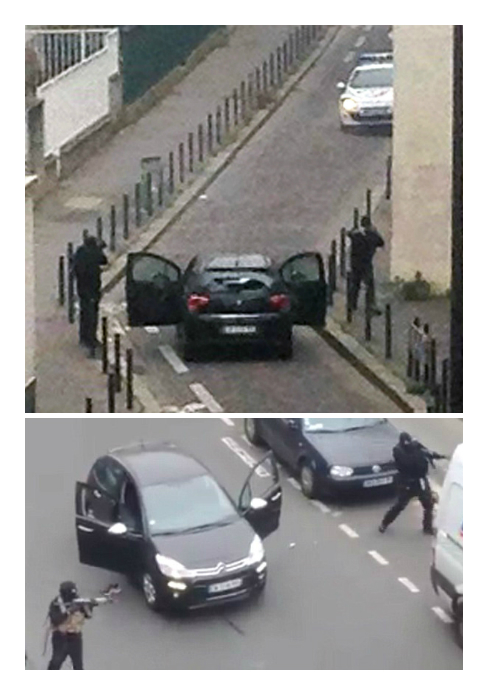 Pictured: Gunmen who killed 12 in attack on French magazine Charlie Hebdo