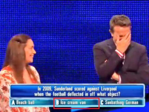 Woman on ITV's The Chase got the answer to this Liverpool v Sunderland question VERY badly wrong