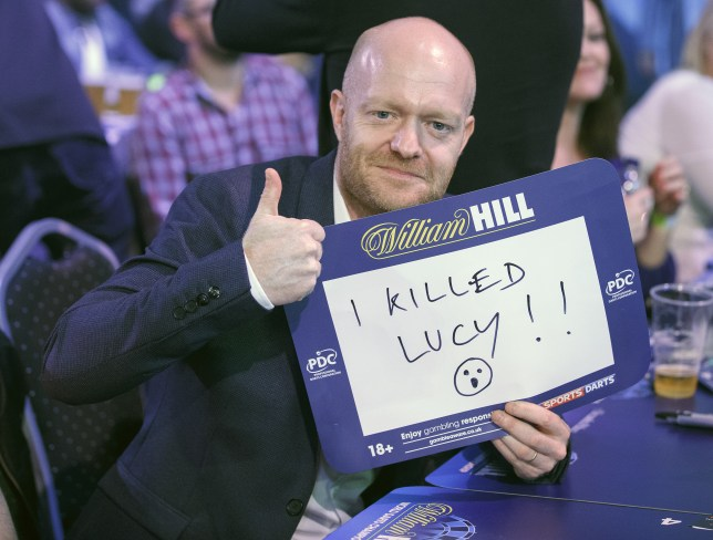 Jake Wood with I Killed Lucy Sign