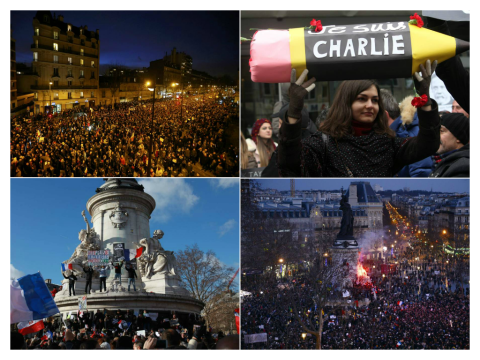 Paris unity march updates: 1.5 million join together in France's biggest ever demonstration