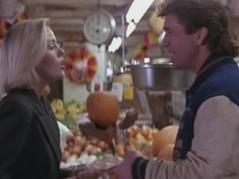 Here is Patsy Kensit in a scene with Mel Gibson from Lethal Weapon 2
