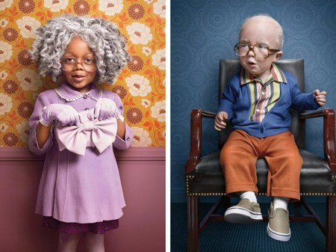 These photographs of children dressed as old people are glorious