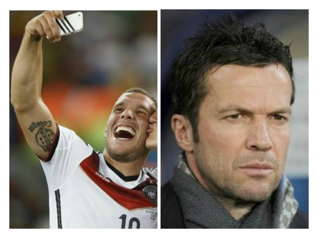 Lukas Podolski hits back at Germany legend Lothar Matthaus over social media criticism