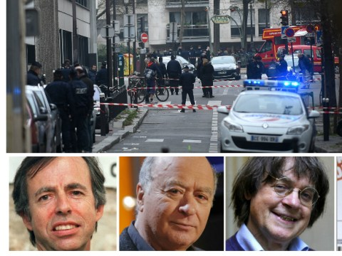 Paris shooting latest: 12 dead at satirical magazine Charlie Hebdo and three gunmen still on the loose