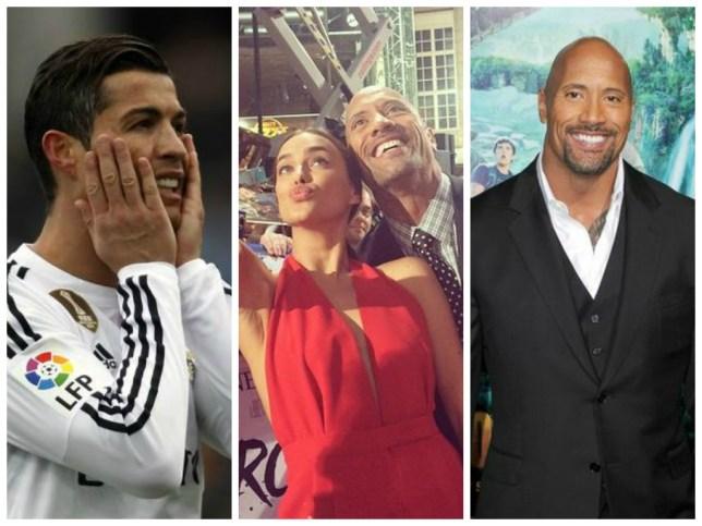 Ronaldo, Irina and The Rock