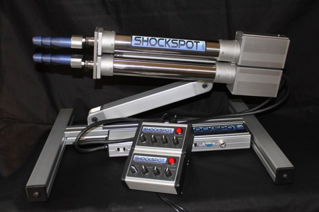 The Shockspot produces 18lb of thrust, with its makers describing it as, 'the most advanced, robotic f**king system.' (Picture Shockspot)