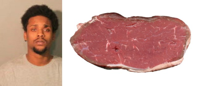 Jeremiah Taylor is accused of hitting his girlfriend with a steak Picture: Shelby County Sherriffs Office)