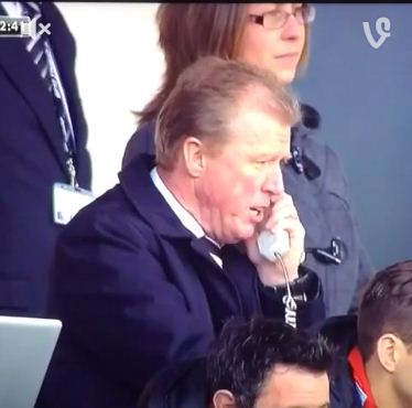 Steve McClaren gets caught saying something dodgy on phone during Derby's loss to Nottingham Forest