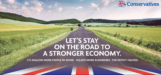 And so it begins: Tories release first campaign poster for the 2015 General Election