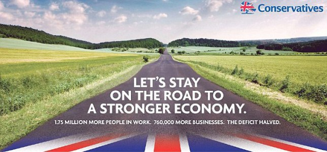 This is the first election poster released by the Conservative Party (Picture: Conservative Party)