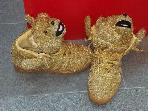 Barcelona's Lionel Messi posts picture of Dani Alves' seriously FUNKY Adidas teddy bear trainers