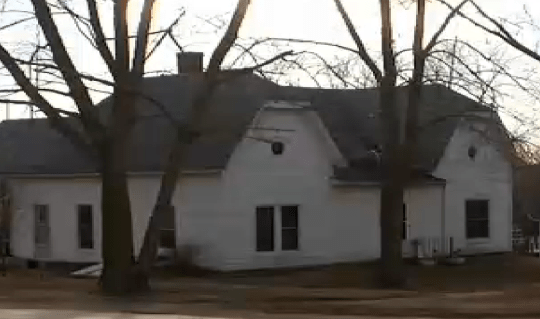 Emergency crews were scrambled to the home after being told of a paintball gun accident Picture: KCTV)