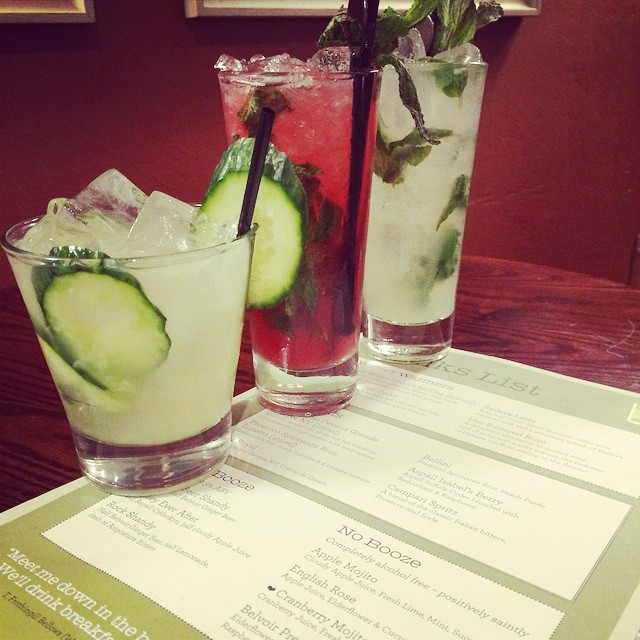 Virgin cocktails for dry January
