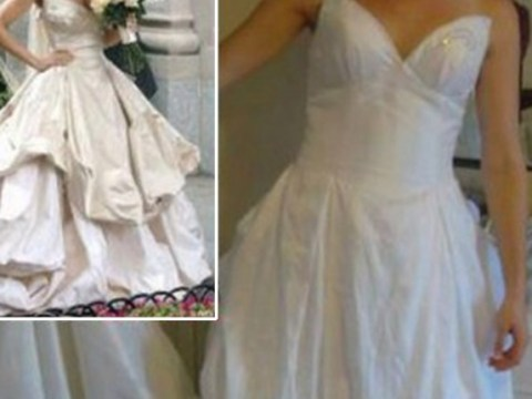 This is why you shouldn't buy a cheap knock off wedding dress online