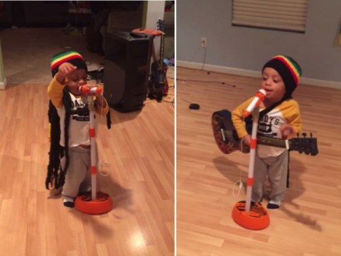 Lil Bob Marley: Two-year-old jammin' to Get Up Stand Up is just the tonic you need