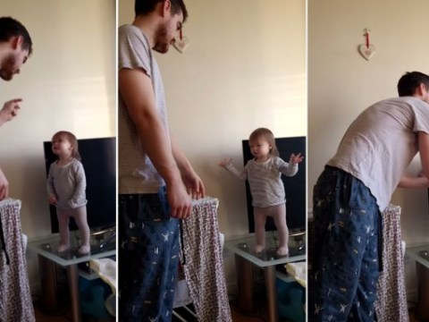 Feisty little girl stands her ground in argument with dad