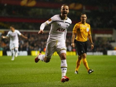 Roberto Soldado nets sweet volley to give Tottenham Hotspur Europa League lead over Fiorentina