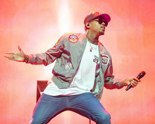 WASHINGTON, DC - February 22, 2015 - Chris Brown performs at the Verizon Center in Washington, D.C. as part of the Between The Sheets Tour with Trey Songz. Brown's latest album, Fan of a Fan: The Album, a collaboration with rapper Tyga, hits stores on Tuesday. The Washington Post/The Washington Post/Getty Images