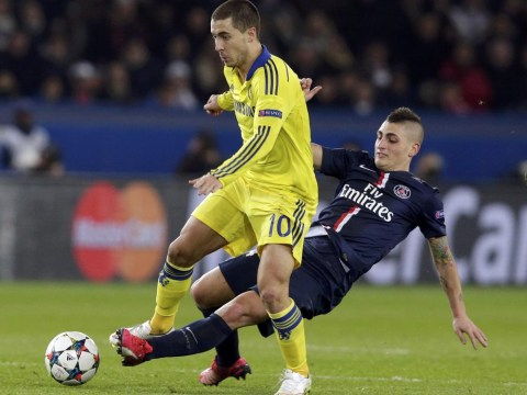 Chelsea's Eden Hazard awarded nine free-kicks against PSG making Belgian most fouled player in both Premier League and Champions League