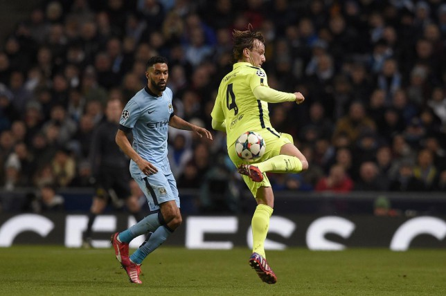 Barcelona midfielder Ivan Rakitic bamboozles Manchester City players with slick skills during Champions League win