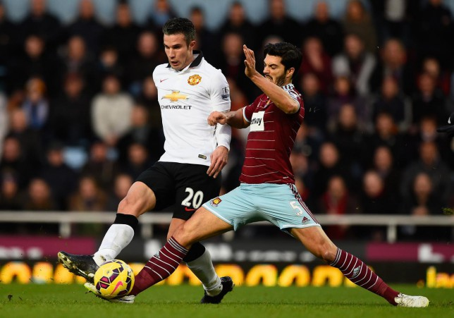 Jose Mourinho asks why Robin van Persie wasn't suspended for elbow to West Ham's James Tomkins