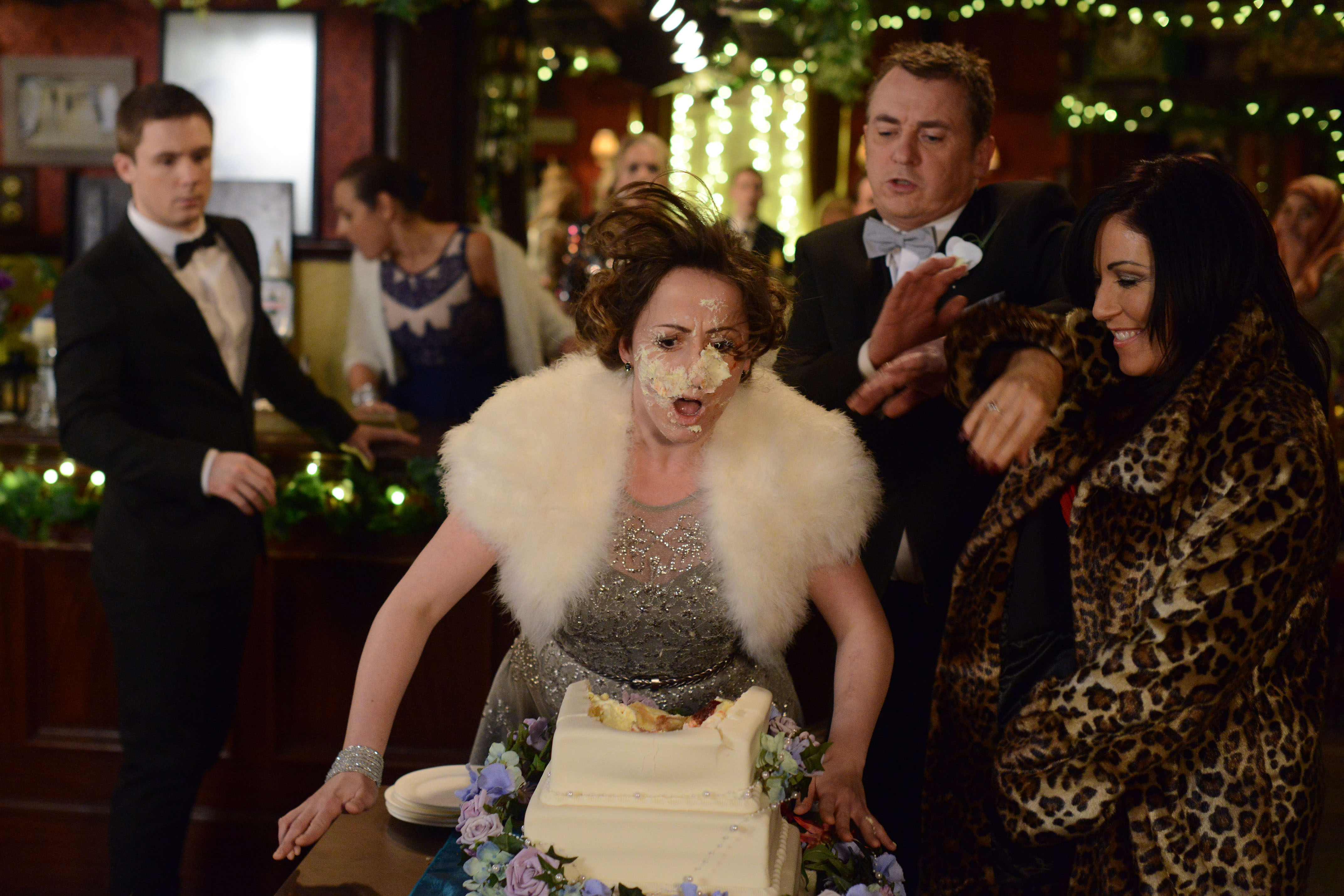EastEnders spoilers: Ian and Jane's wedding goes off with a bang as Kat pushes Sonia's face into the Beale wedding cake