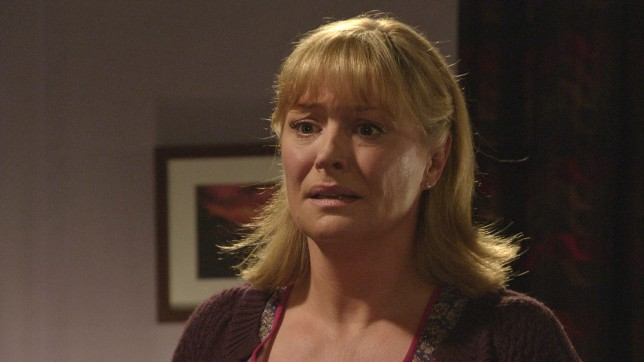 Programme Name: EastEnders - TX: 19/02/2015 - Episode: 5017 (No. n/a) - Picture Shows: Jane is shocked at what she sees. Jane Beale (LAURIE BRETT) - (C) BBC - Photographer: Screengrab