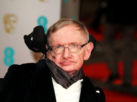 Stephen Hawking shows support for Eddie Redmayne on Baftas red carpet