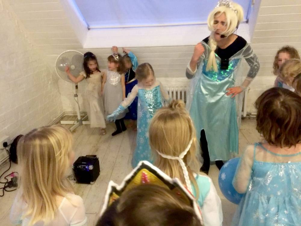 "A mum hit out after the 'world's worst Elsa' turned up late to her daughter's birthday party in a scruffy dress and terrible wig claiming the real one ""couldn't make it"".  See SWNS story SWFROZEN.  Angry Luci Hindmarsh, 35, booked the Frozen performer for her daughter Misty's party and was promised a magical experience for the five-year-old and her excited pals.  But the girls were left disappointed after the entertainer - who arrived in normal clothes - changed into a tatty dress which looked like ""she'd left a rave at 6am"".  Her jet-black hair was clearly visible under her ill-fitting blonde wig and the kids were left baffled when she sang a 70s rock song, instead of tunes from the hit movie.  But the booking agents demanded the family cough up the full £175 bill for the impersonator, despite Misty asking her tearful mum ""why didn't Elsa come?"""