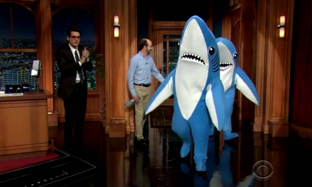 Katy Perry's Super Bowl sharks have done their first chat show interview. We're not convinced it went that well…