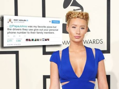 Iggy Azalea has major beef with Papa Johns for giving out her mobile phone number