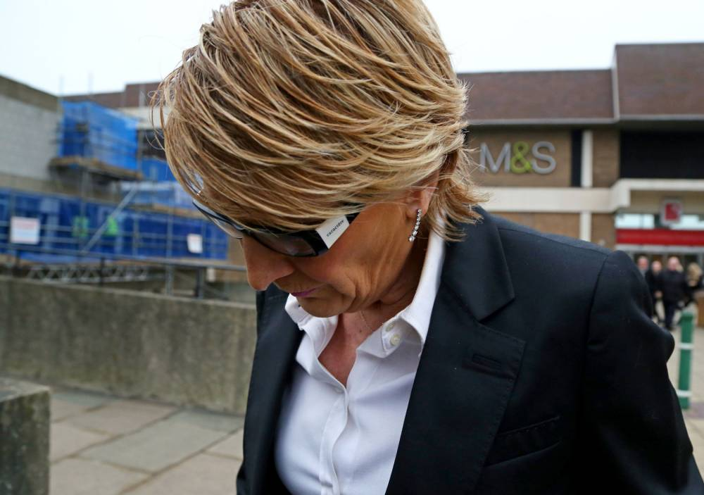 EastEnders actress Linda Henry arrives at Bexley Magistrates Court, Bexleyheath, where she was due to stand trial accused of racially aggravated harassment outside a Jamie Oliver restaurant. PRESS ASSOCIATION Photo. Picture date: Wednesday February 11, 2015. The 52-year-old, who plays barmaid Shirley Carter in the BBC soap, was charged following an incident near Jamie's Italian in Greenwich, south east London, on September 14 last year. See PA story COURTS EastEnders. Photo credit should read: Gareth Fuller/PA Wire