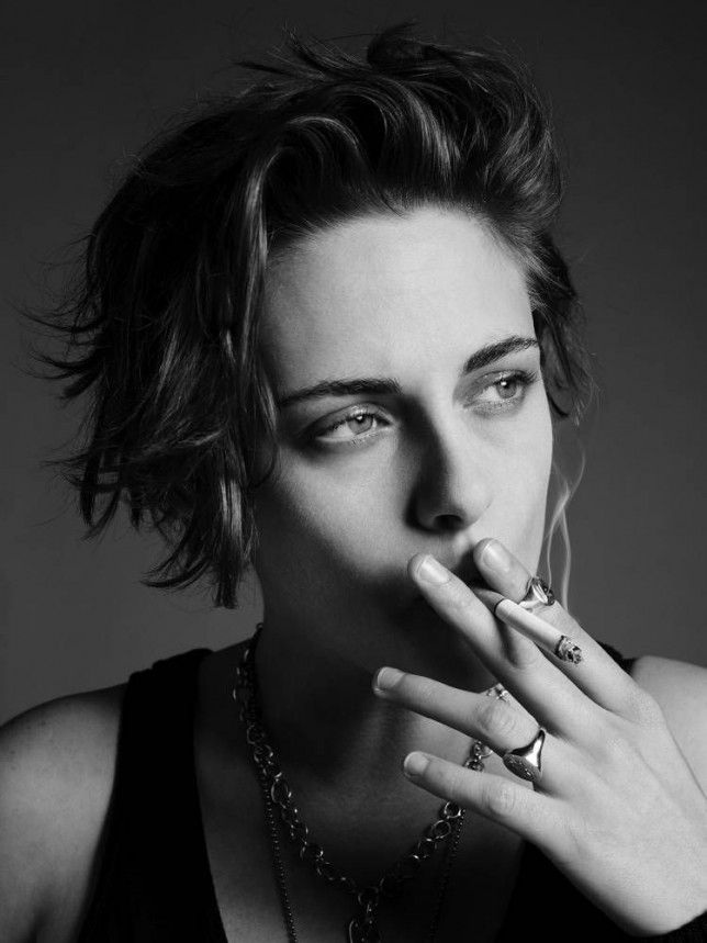 """Credit: Kristen Stewart photographed by Hedi Slimane for Wonderland Magazine, all makeup by Chanel. On Women In Film: FREE PIC """"It's silly to play the devil's advocate when having a conversation about female roles in Hollywood, because then you're doing this 'reverse feminism' thing that has become weirdly trendy recently. I feel like some girls around my age are less inclined to say, 'Of course I'm a feminist, and of course I believe in equal rights for men and women,' because there are implications that go along with the word feminist that they feel are too in-your-face or aggressive. A lot of girls nowadays are like, 'Eww, I'm not like that.' They don't get that there's no one particular way you have to be in order to stand for all of the things feminism stands for.""""  On Scriptwriting:  """"I wrote a sick short film that I'm really proud of. It's more abstract rather than super narrative. It's like a poem; it's about water. People ask, 'Why not just direct a feature?' But I want to play around first. I want to have experience. I think the first thing I'm going to make will live in the in-between moments."""""""