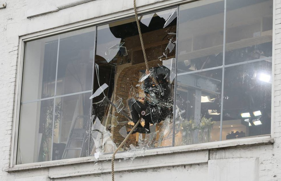 Bear Grylls just smashed through the This Morning window live on TV