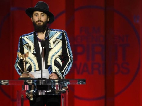 'Respect your elders – unless you want a can of whoop-ass: ' Jared Leto upped the awesome ante at the 2015 Independent Spirit Awards