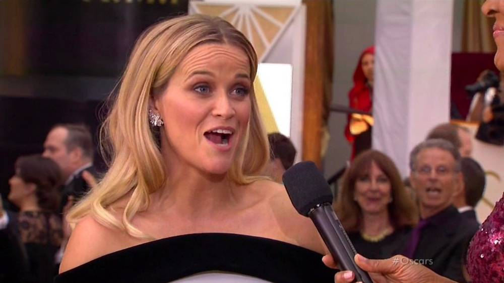 """Reese Witherspoon starts Twitter trend #askhermore on Oscar red carpet. The actress, who is nominated for an Academy Award for her role in Wild, revealed to ABC host Robin Roberts that she had started the hashtag so reporters would ask her more than just what gown she is wearing on the red carpet. Reese revealed: """"It's a movement to say we are more than just our dresses. Our dresses are beautiful and we love the artists who made these clothes but this is a group  of women, 44 nominees this year that are women, and we are so happy to be here and talk about the work we've done. It's hard being a woman in Hollywood or any industry but it's exciting for me to get to talk to the other nominees about the work they're doing."""" XPOSURE PHOTOS DOES NOT CLAIM ANY COPYRIGHT OR LICENSE IN THE ATTACHED MATERIAL. ANY DOWNLOADING FEES CHARGED BY XPOSURE ARE FOR XPOSURE'S SERVICES ONLY, AND DO NOT, NOR ARE THEY INTENDED TO, CONVEY TO THE USER ANY COPYRIGHT OR LICENSE IN THE MATERIAL. BY PUBLISHING THIS MATERIAL , THE USER EXPRESSLY AGREES TO INDEMNIFY AND TO HOLD XPOSURE HARMLESS FROM ANY CLAIMS, DEMANDS, OR CAUSES OF ACTION ARISING OUT OF OR CONNECTED IN ANY WAY WITH USER'S PUBLICATION OF THE MATERIAL.  BYLINE MUST READ : ABC/XPOSUREPHOTOS.COM PLEASE CREDIT AS PER BYLINE *UK CLIENTS MUST CALL PRIOR TO TV OR ONLINE USAGE PLEASE TELEPHONE  44 208 344 2007"""