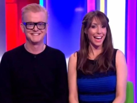 Alex Jones wears THAT dress on The One Show…and it definitely looks blue