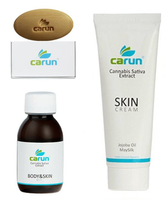 Carun cannabis skincare products