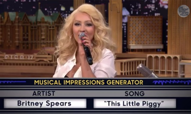 Christina Aguilera does Britney Spears
