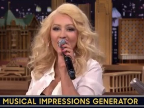 Christina Aguilera's impersonation of Britney Spears on The Tonight Show was seriously spot-on