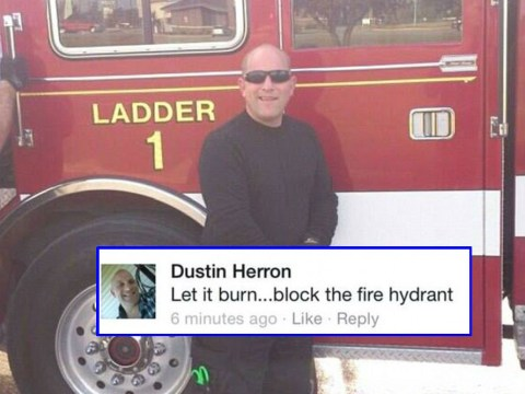 Firefighter says 'Let it burn…block the fire hydrant' during mosque fire