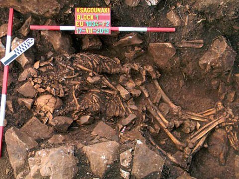 A Valentine's Day hug for six millennia: Skeletons found embracing