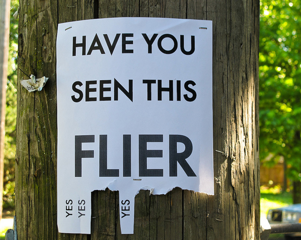 Funny flyer poster