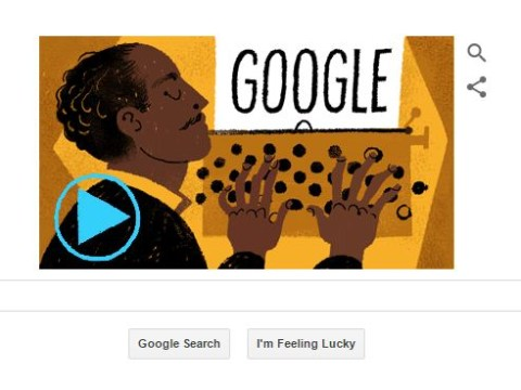 Google doodle celebrates the life of poet and activist, Langston Hughes