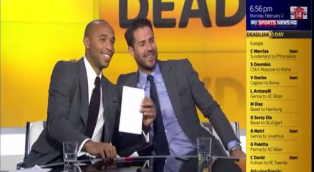 Thierry Henry Makes Breaking News On Sky Sports After Pretending To Sign For Qpr On Transfer Deadline Day Metro News