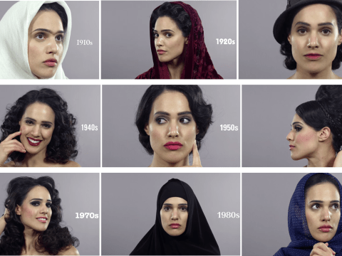 100 years of beauty in Iran shows how women's beauty has been affected by political change