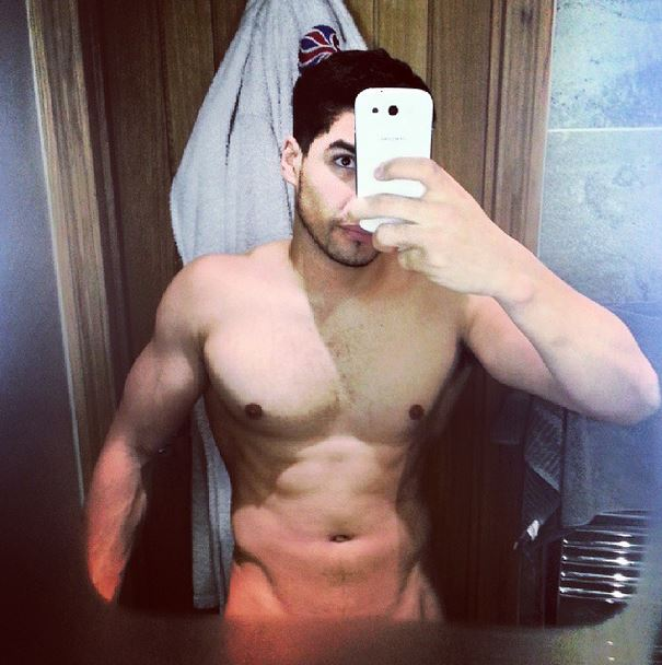 Phwoar-o'clock: Gymnast Louis Smith shares steamy topless bathroom selfie
