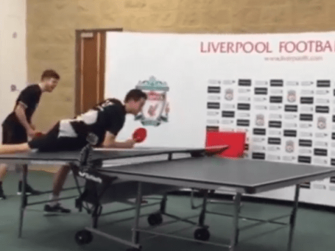 Javier Manquillo's aggressive ping pong play backfires spectacularly at Liverpool's training ground