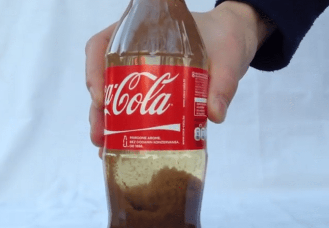 Just leave it for an hour, and your delicious fluid is ready to drink (Picture: YouTube)